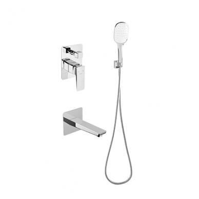 Potinkinė dušo sistema su snapu voniai Omnires Parma