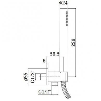 Potinkinė termostatinė dušo sistema Paffoni Light (brushed nickel) 4