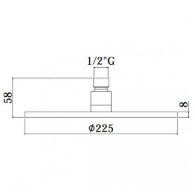 Potinkinė termostatinė dušo sistema Paffoni Light (brushed nickel) 5