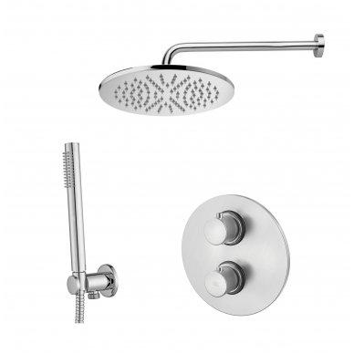 Potinkinė termostatinė dušo sistema Paffoni Light (brushed nickel)