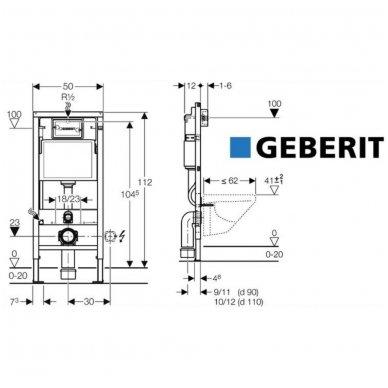 Potinkinio rėmo Geberit su chromuotu mygtuku ir Villeroy & Boch O.Novo WC komplektas 4