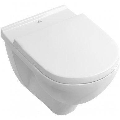 Potinkinio rėmo Geberit su chromuotu mygtuku ir Villeroy & Boch O.Novo WC komplektas 2