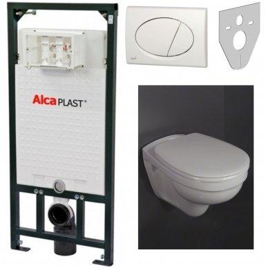 Potinkinio rėmo ir pakabinamo wc komplektas Alcaplast