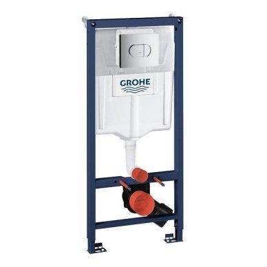 Potinkinio rėmo ir vandens nuleidimo mygtuko komplektas Grohe Rapid SL 3in1