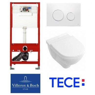 Potinkinio rėmo TECE ir pakabinamo unitazo Villeroy & Boch O.Novo komplektas