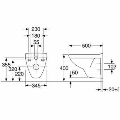 Potinkinio rėmo Tece komplektas su Gustavsberg Nautic klozetu ir soft close dangčiu 3