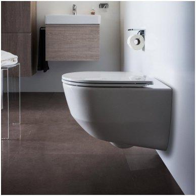 Potinkinio WC rėmo Geberit 4in1 ir pakabinamo klozeto Laufen Pro New su plonu lėtaeigiu dangčiu komplektas 3