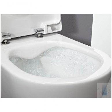 Potinkinio WC rėmo Geberit 4in1 ir pakabinamo klozeto Laufen Pro New su plonu lėtaeigiu dangčiu komplektas 4