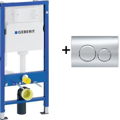 Potinkinio WC rėmo Geberit 4in1 ir pakabinamo klozeto Villeroy&Boch Subway 2.0 su plonu lėtaeigiu dangčiu komplektas 10