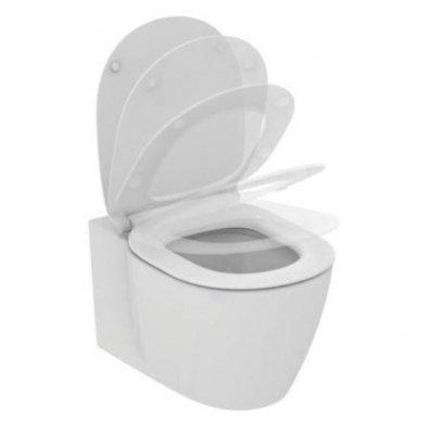 Potinkinio WC rėmo Geberit ir klozeto Ideal Standard Connect Aquablade su lėtaeigiu dangčiu komplektas 4