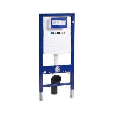 Potinkinio WC rėmo Geberit  komplektas su laikikliais ir baltu mygtuku 3