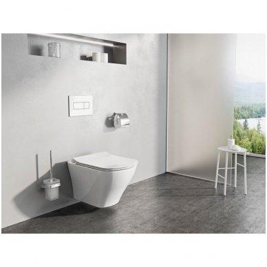 Potinkinio WC rėmo Grohe Rapid SL 4in1 ir pakabinamo klozeto Ravak Classic Rimoff su plonu lėtaeigiu dangčiu komplektas 2