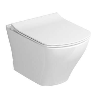 Potinkinio WC rėmo Grohe Rapid SL 4in1 ir pakabinamo klozeto Ravak Classic Rimoff su plonu lėtaeigiu dangčiu komplektas 4