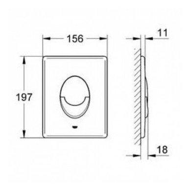 Potinkinio WC rėmo Grohe Rapid Sl 4in1 ir pakabinamo klozeto Sapho Paco su lėtaeigiu dangčiu komplektas 10