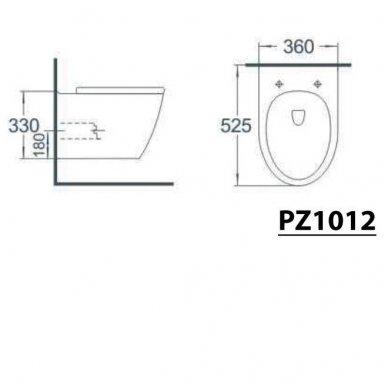 Potinkinio WC rėmo Grohe Rapid Sl 4in1 ir pakabinamo klozeto Sapho Paco su lėtaeigiu dangčiu komplektas 9