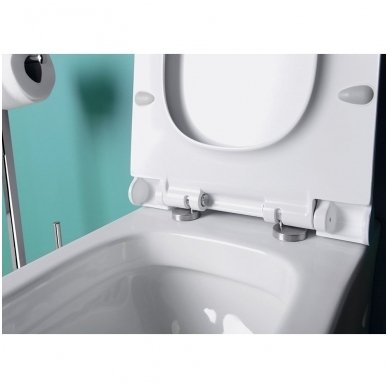 Potinkinio WC rėmo Grohe Rapid Sl 4in1 ir pakabinamo klozeto Sapho Paco su lėtaeigiu dangčiu komplektas 6