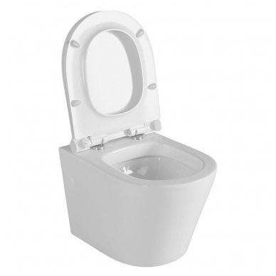 Potinkinio WC rėmo Grohe Rapid Sl 4in1 ir pakabinamo klozeto Sapho Paco su lėtaeigiu dangčiu komplektas 4