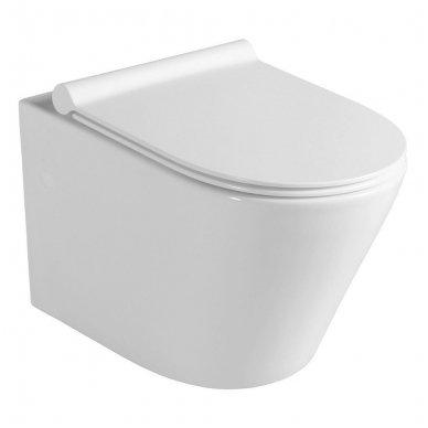 Potinkinio WC rėmo Grohe Rapid Sl 4in1 ir pakabinamo klozeto Sapho Paco su lėtaeigiu dangčiu komplektas 3