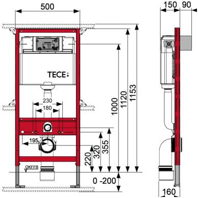 Potinkinio WC rėmo komplektas 3in1 su rėmeliu tabletėms 2