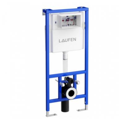 Potinkinio WC rėmo Laufen ir klozeto Ravak Uni Chrome RimOff  komplektas 2