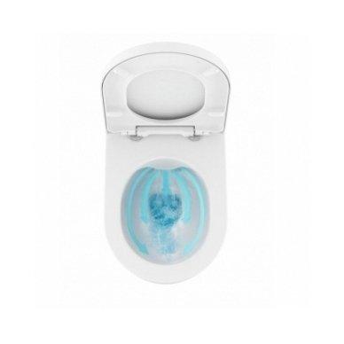 Potinkinio WC rėmo Laufen ir klozeto Ravak Uni Chrome RimOff  komplektas 4