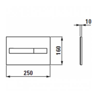 Potinkinio WC rėmo Laufen ir klozeto Ravak Uni Chrome RimOff  komplektas 10