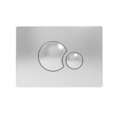 Potinkinio WC rėmo Sanit ir chromuoto vandens nuleidimo mygtuko komplektas 3