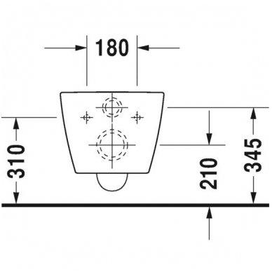 Potinkinio WC rėmo Tece ir klozeto Duravit ME by Starck Compact Rimless komplektas 8