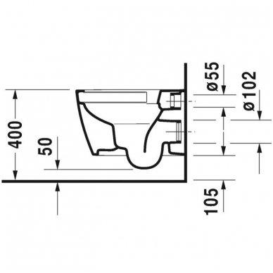 Potinkinio WC rėmo Tece ir klozeto Duravit ME by Starck Compact Rimless komplektas 7