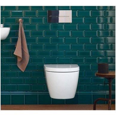 Potinkinio WC rėmo Tece ir klozeto Duravit ME by Starck Compact Rimless komplektas 4