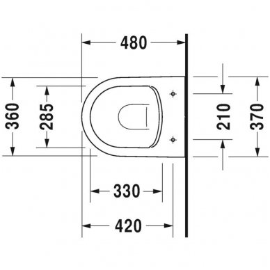 Potinkinio WC rėmo Tece ir klozeto Duravit ME by Starck Compact Rimless komplektas 6