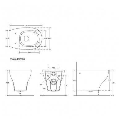 Potinkinio WC rėmo Tece ir klozeto Galassia Eden Rimless komplektas 9