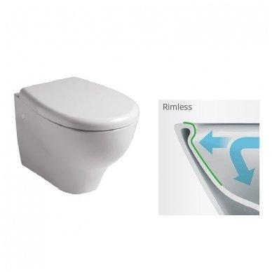 Potinkinio WC rėmo Tece ir klozeto Galassia Eden Rimless komplektas 5