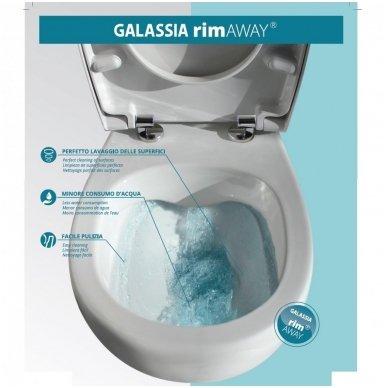 Potinkinio WC rėmo Tece ir klozeto Galassia Eden Rimless komplektas 4