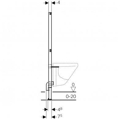 Potinkinis bidė rėmas geberit Duofix Basic su tvirtinimo elementais 4