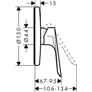 Potinkinis dušo maišytuvas Hansgrohe Logis E 2