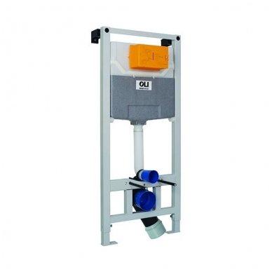 Potinkinis rėmas OLI 120 su klozeto dezinfekavimo rinkiniu OLIPURE bei mygtuku GLAM (spalvų pasirinkimas) 3