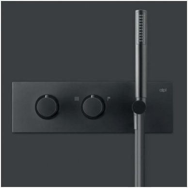 Potinkinis termostatinis vonios/dušo maišytuvas su rankiniu dušu Alpi Blue