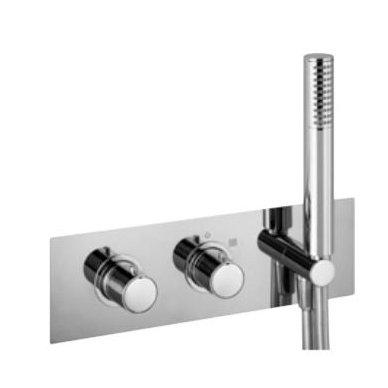 Potinkinis termostatinis vonios/dušo maišytuvas su rankiniu dušu Alpi Blue 2