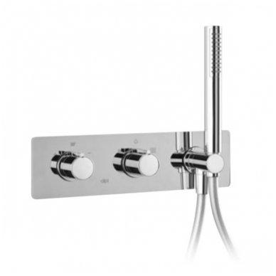 Potinkinis termostatinis vonios/dušo maišytuvas su rankiniu dušu Alpi Nu