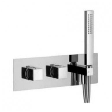 Potinkinis termostatinis vonios/dušo maišytuvas su rankiniu dušu Alpi Una18