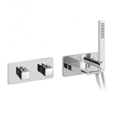 Potinkinis termostatinis vonios/dušo maišytuvas su rankiniu dušu ir snapu Alpi Naboo
