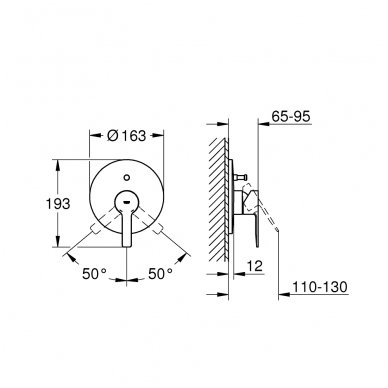 Potinkinis vonios/dušo maišytuvas Grohe Lineare chrome/supersteel 5