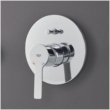 Potinkinis vonios/dušo maišytuvas Grohe Lineare chrome/supersteel 2