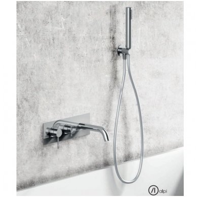 Potinkinis vonios/dušo maišytuvas su rankiniu dušu ir snapu Alpi Blue