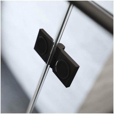 Pusapvalė dušo kabina Radaway Essenza New Black PDD 3