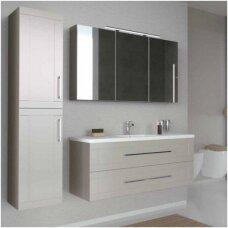 Trijų dalių baldų komplektas su veidrodine spintele ir šviestuvu Kamė Adagio 120