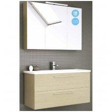 Raguvos Baldai dviejų dalių  komplektas su veidrodine spintele ir šviestuvu Scandic 100