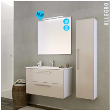 Raguvos baldai trijų dalių komplektas su veidrodžiu ir šviestuvu Allegro 90