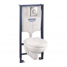 RAPID SL potinkinis WC rėmas ir BAU pakabinamas WC su dangčiu